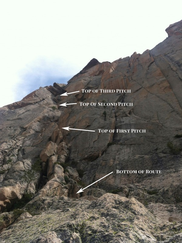 The First Four Pitches of the Mountaineers Route on the Elephants Perch