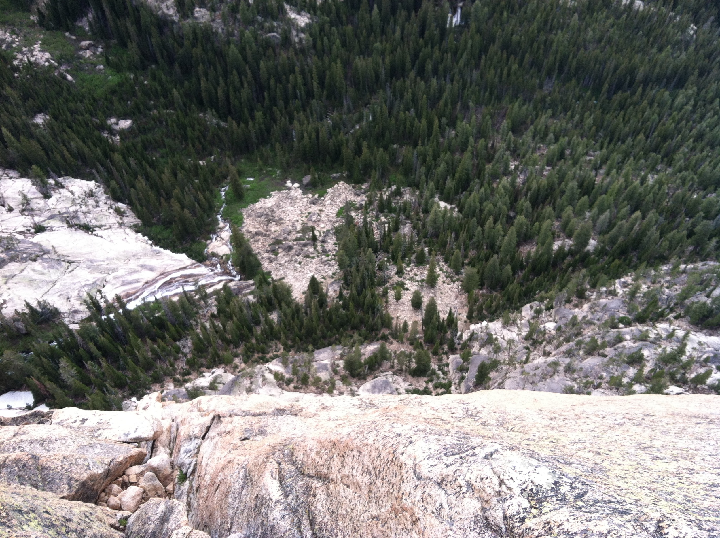 Looking 600 Feet Down to the Base of the Slabs