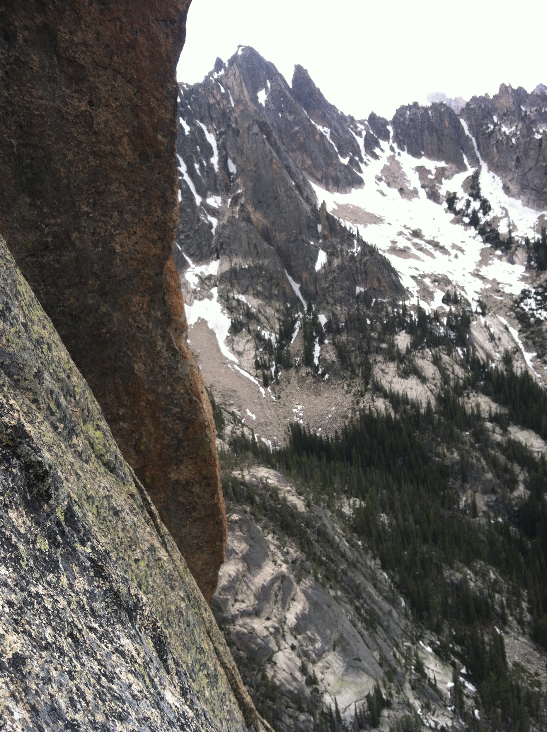 Looking Towards the Other Perches From Where The 5th Belay Should Have Been