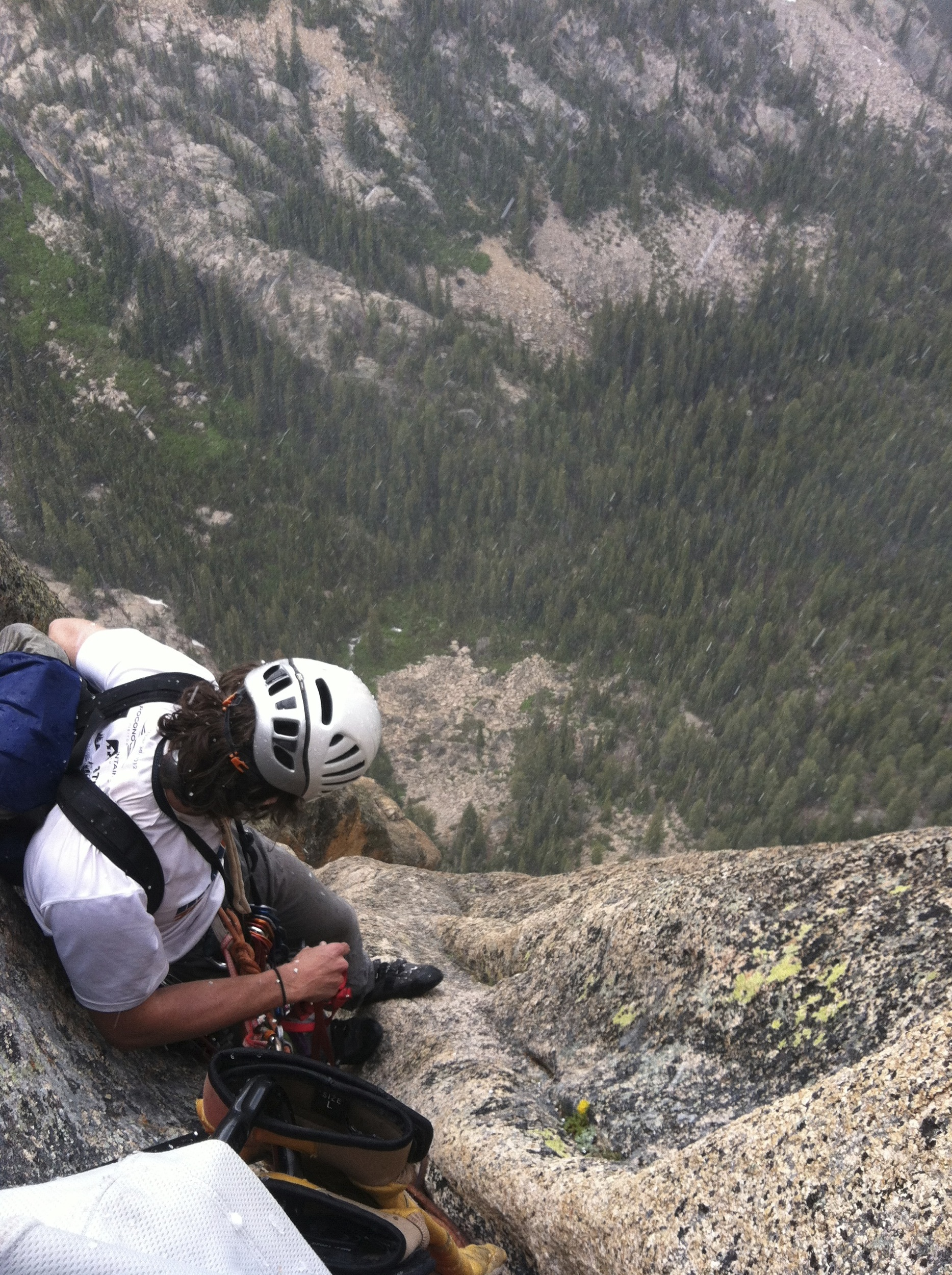 James at the 7th Belay