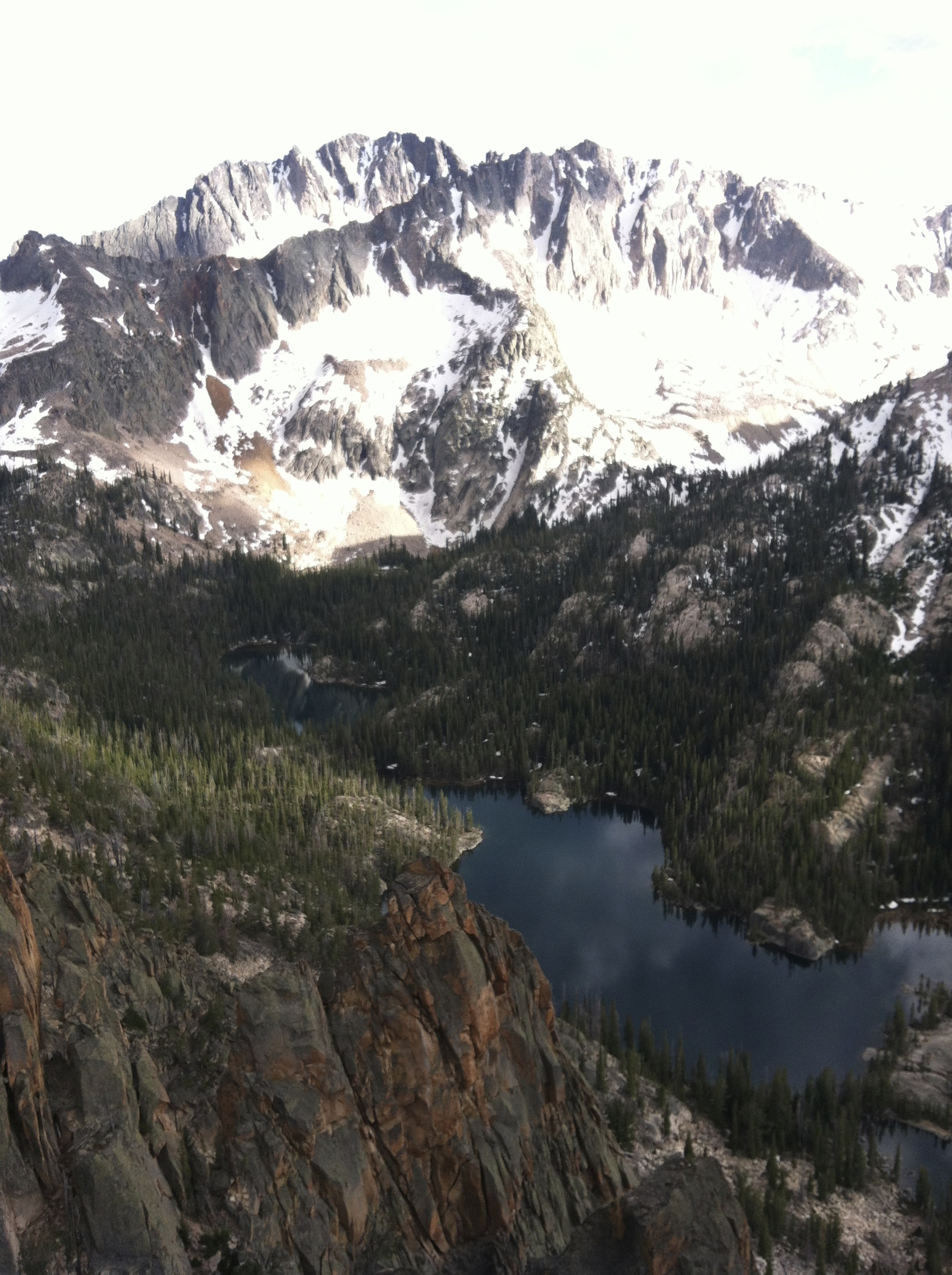 Saddleback Lakes from the South Side of the Perch
