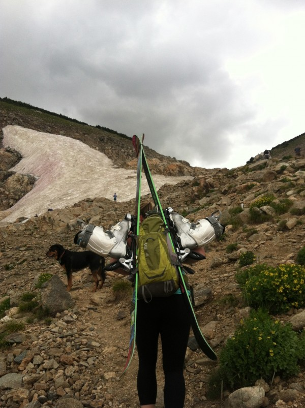 A 15 Minute Hike Yields Some Midsummer Snow