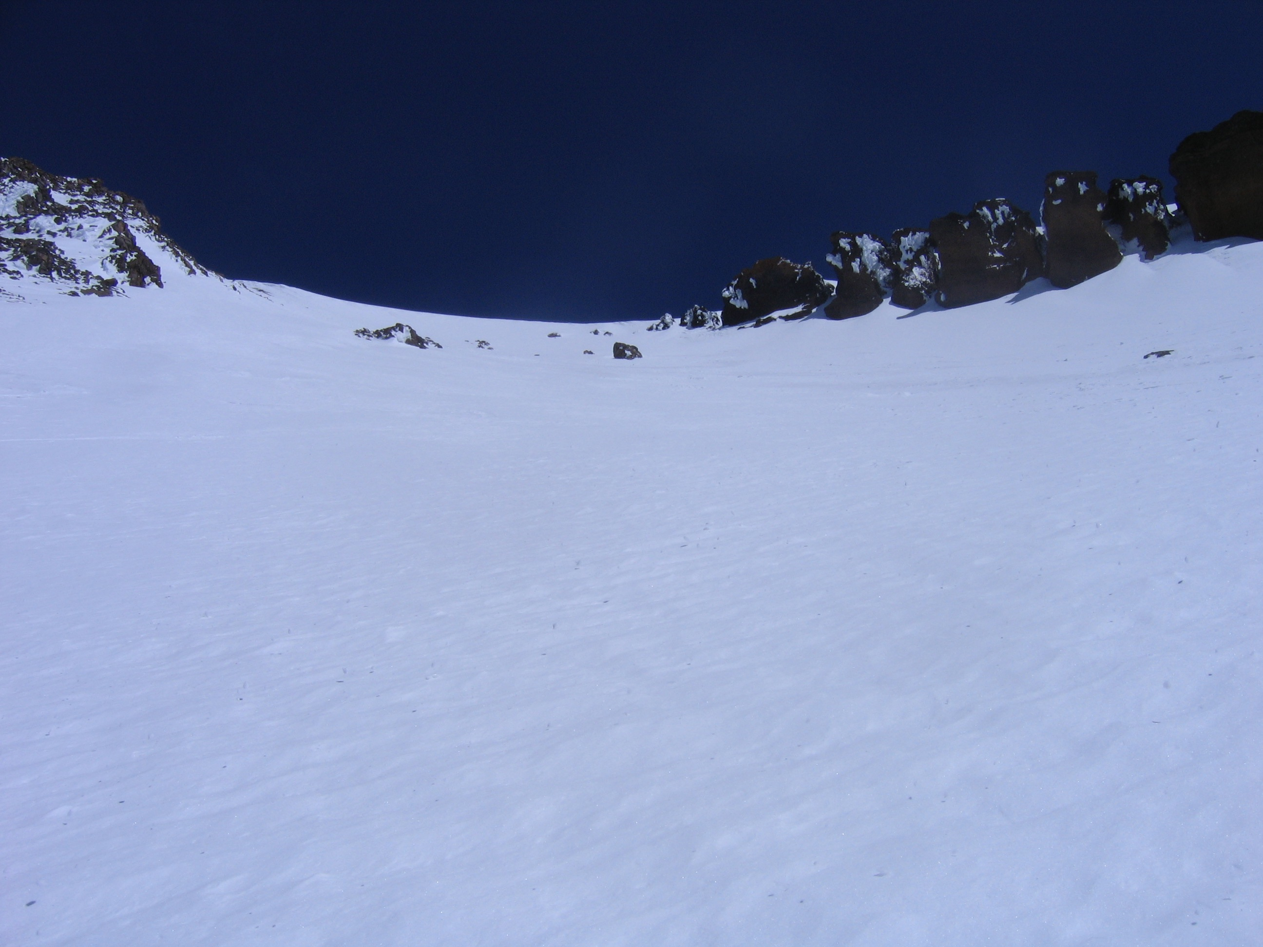 Looking Up the Upper Potion of Avalanche Gulch