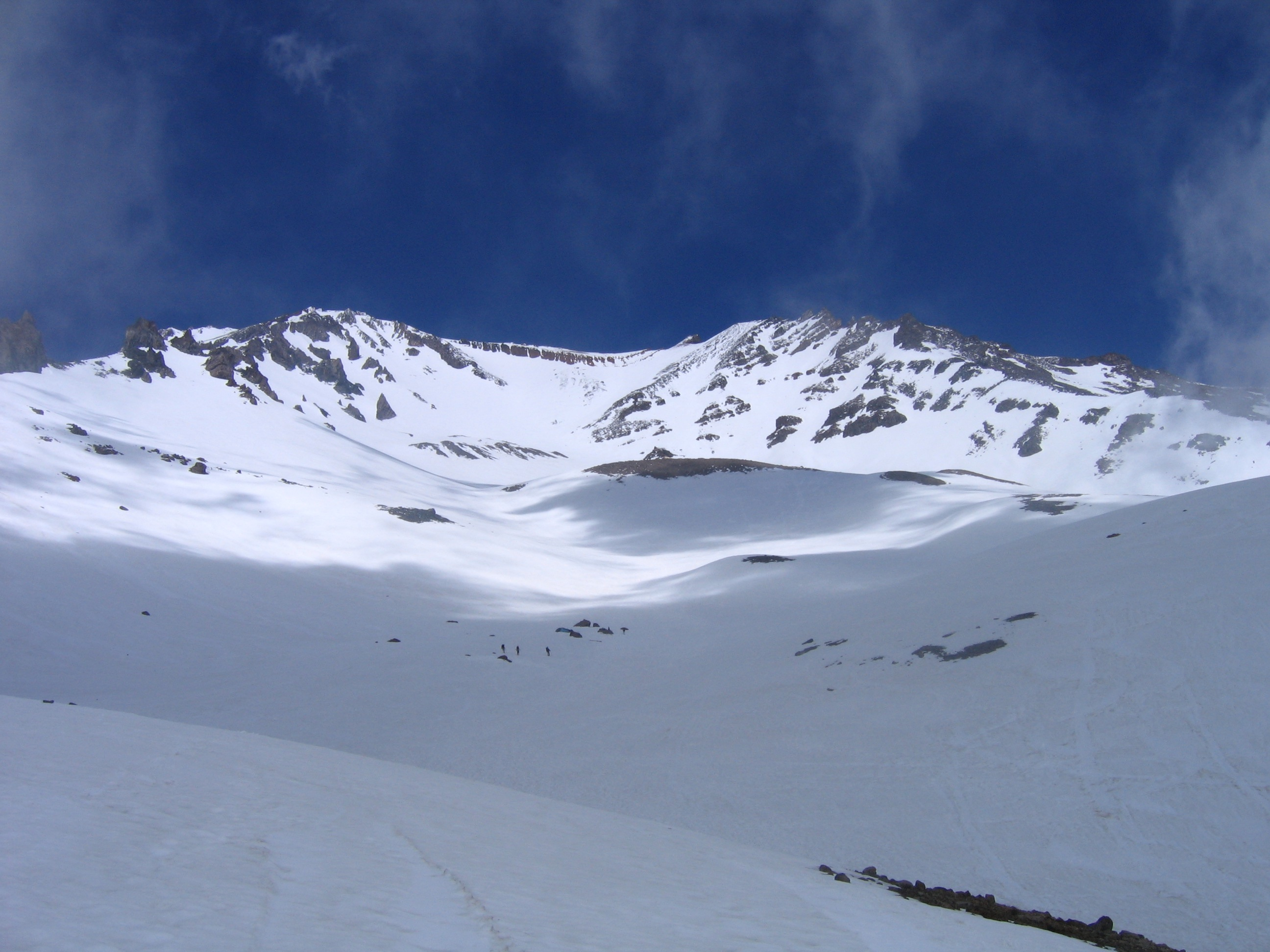 Looking Up Avalanche Gulch from 8000 Feet